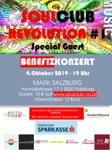 Soulclub Mark Benefiz A3 Plakat